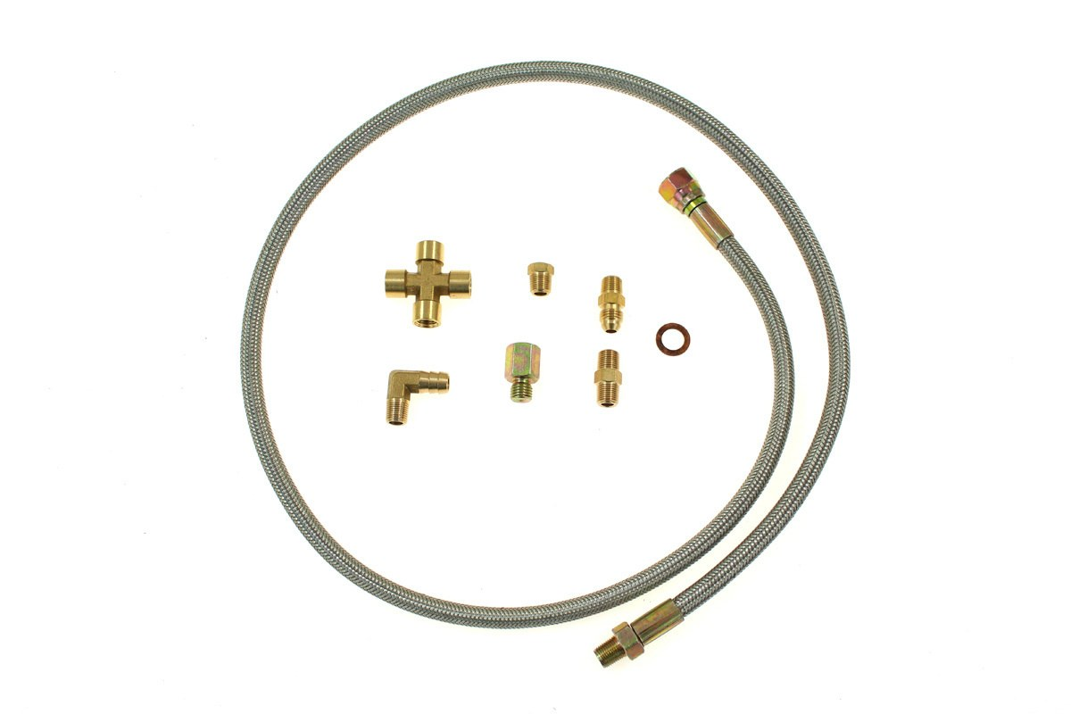 Zestaw zasilania olejem turbo T3/T4 Super 60 - GRUBYGARAGE - Sklep Tuningowy